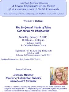 St Catherine Laboure Women's Retreat