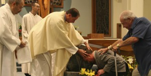 Baptism of Graham Cornwell at the Easter Vigil